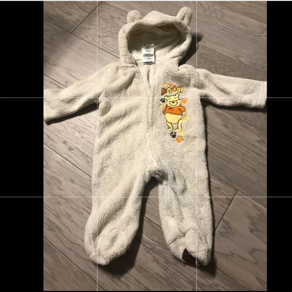 Disney Other - Winnie the Pooh winter onesie 3-6 mo